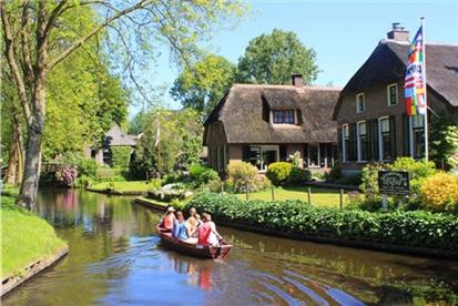 【荷兰一地7日经典游】船游羊角村,领略荷兰灿烂的历史文化
